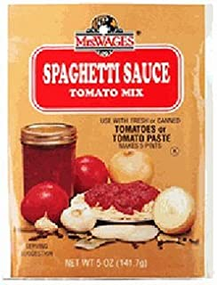 Mrs. Wages Spaghetti Sauce Tomato Mix, 5-Ounce Packages (Pack of 12)