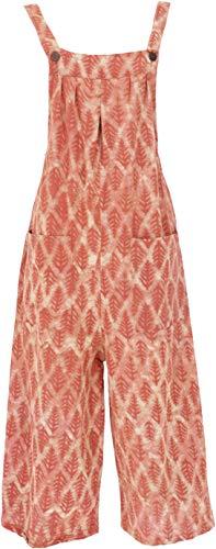 Guru-Shop Sommerliche Latzhose, Ethno Style Boho Oversize Einteiler, Overall, Damen, Orange, Baumwolle, Size:S (36), Lange Hosen Alternative Bekleidung