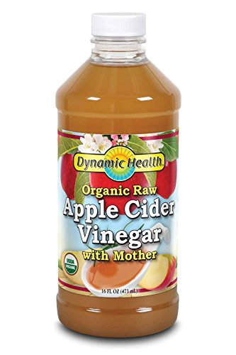 Dynamic Health Certified Organic Raw Apple Cider Vinegar with Mother | Unfiltered, Unpasteurized | 16 FL OZ