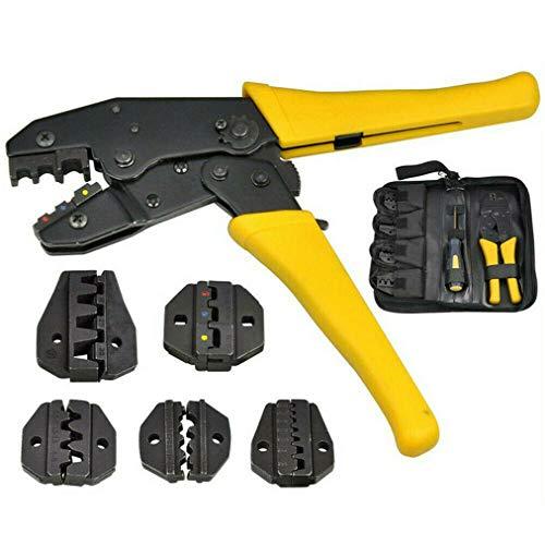 QPLKL Outil de sertissage 4 en 1 cliquet câble câble câble Fil de sertissage bornes électriques Trousse à Outils en Pince d'outil de sertissage d'attelle