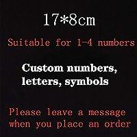 TTCI-RR 家屋番号 あらゆるコンテンツアクリルルミナスハウスナンバーのカスタムサインドアナンバーステッカーのためにホテルアパートヴィラドア 部屋番号 (Color : 17x8cm)