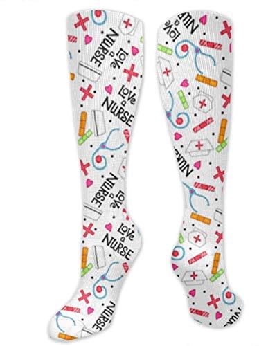 winterwang Nurse Whimsy Compression Calcetines para hombres y mujeres: las mejores medias para correr, viajar, espinilleras, enfermeras, deportes y