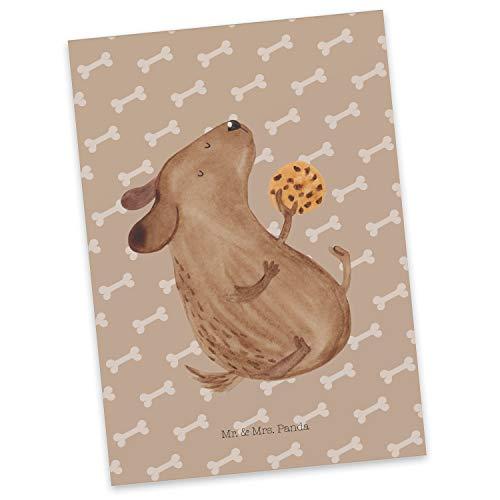 Mr. & Mrs. Panda kaart, cadeaubon, Ansichtkaart Hondenkoekje - Kleur Geluk van honden