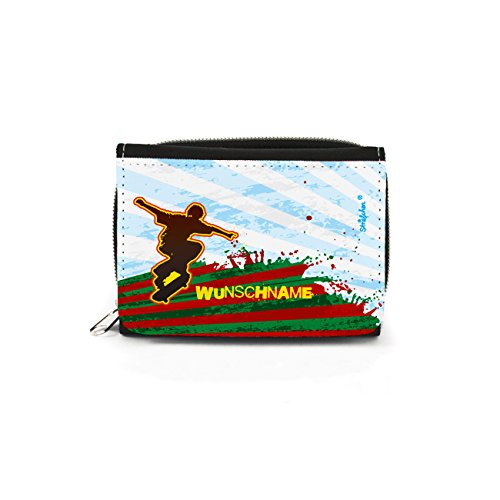 Striefchen® Portemonnaie für Skater mit Namensaufdruck mit Geschenkverpackung