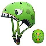 Casco Bicicleta Niños Protección de Cabeza de Seguridad de Dibujos Animados para Niños de 2-5 Años Peso Ligero Transpirable para para Bicicleta/Patineta/Scooter/Patinaje/Rodillo Blading