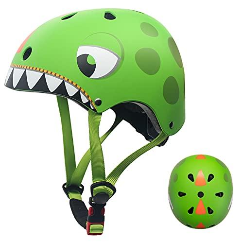Casco Bicicleta Niños Protección de Cabeza de Seguridad de Dibujos Animados para Niños de 2-5 Añ