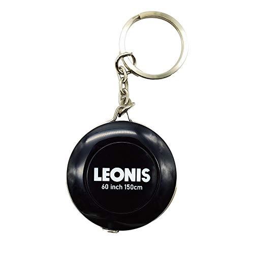 LEONIS 多機能インチセンチメジャー (キーリング付き) 150cm/60inch ブラック[91045]