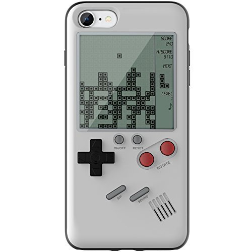 outlet store 1611c 2ae6d Amazon.com: Keklle Game Case Game-Boy Tetris iPhone Case Shell TPU ...