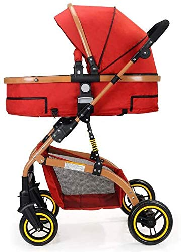 LAMTON Baby Stroller High Landscape, City Jogging Four-Wheel Collapsible Two-Way Shock Adjustable Baby Stroller to Send Mosquito Net Cotton Pad Foot Cover Wrist Band, Suitable for 0-36 Months Baby LAMTON This double stroller features an aeronautical aluminum frame that makes it lighter and stronger, and the fabric is made from linen for a more breathable and refreshing look. The front wheel design of the stroller can be rotated 360°, the built-in spring shockproof, strong shockproof, adapt to a variety of review roads, making the baby more comfortable. Stroller configuration: equipped with a five-point seat belt, detachable armrests, adjustable pusher height, and an enlarged basket at the bottom. 9