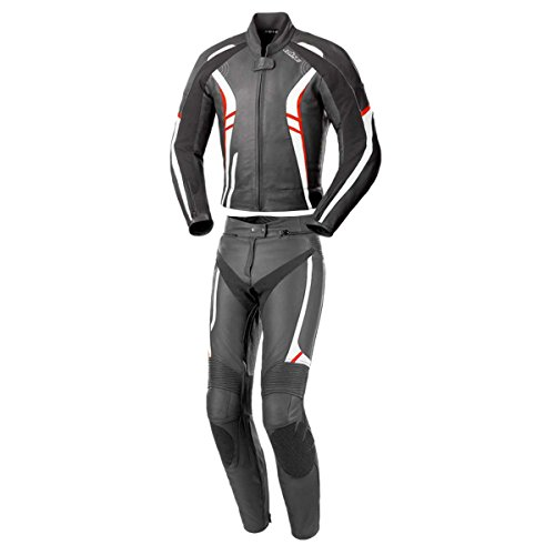 Büse 109102-36 Damenlederkombi Jerez, Schwarz/weiß/rot, Größe : 36