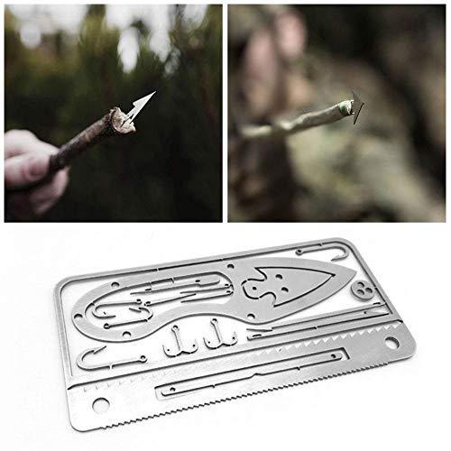 Multitool Angelbeleuchtung für Camping und Wildnis Survival Prepper Ausrüstung Angeln Angelhaken Karte Camping Wandern Jagd Notfall Kit