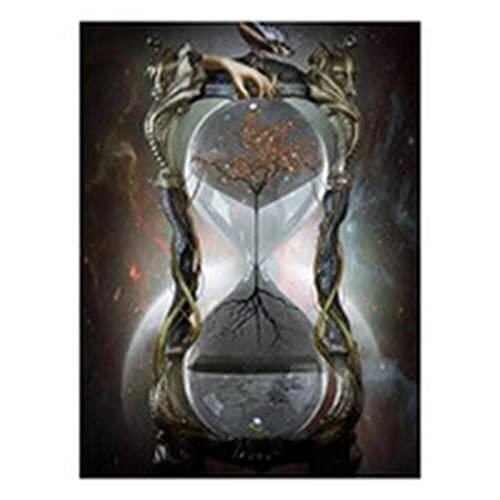 5D Pintura Diamante Kit de Taladro Completo Reloj de arena Adultos Crystal Rhinestone por Número Lienzo Punto de Cruz Bordado Diamond Painting Artesanía para la Decoración Pared del Hogar 25x40cm