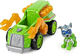 RECYCLING TRUCK TOY WITH LIGHTS AND SOUNDS: Rocky's truck is ready for mighty action! Lift the truck's arms to help move objects and push the button to activate real lights and sounds – the translucent accents light up as it makes exciting sound effe...