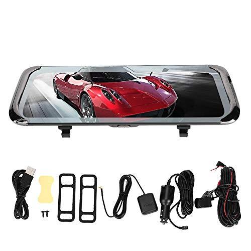 Yctze 10in 4G WiFi Car Dash CAM DVR Navegación GPS Espejo retrovisor Cámara Grabadora de conducción para Dash CAM Cámara retrovisora Grabadora de conducción Video de conducción Coche DVR