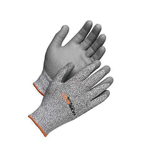 Worksafe Schnittschutzhandschuhe Level 5 Cut5-108, EN388 – Griffsicher, reißfest, 1 Paar, Gr. 9