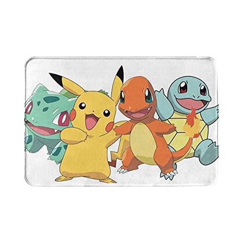 Tapis d'entrée de style Pokémon - Tapis de sol pour intérieur/porte d'entrée/salle de bain/cuisine et salon/chambre.