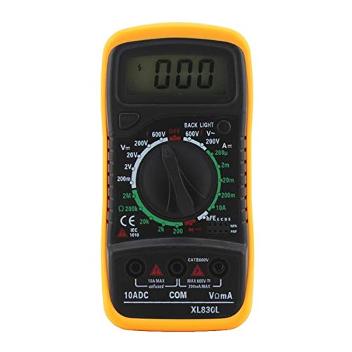 XL830L AC/DC Multimeter LCD Digital Volt Amp Ohm Tester Meter Voltmeter...