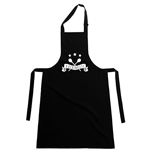 shirtdepartment Schürze Küchenhilfe, schwarz-weiss