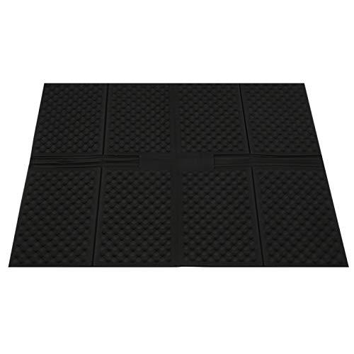 SALUTUYA Alfombra de Arena para Gatos de Gran tamaño 91x69x0.5cm para Caja de Arena para Gatos(Black, Large Folding Cat Litter Pad)