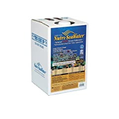 Worldwide live nutri seawater 4.4 gallons No waiting just add fish Does not remove or modify what mother nature intended
