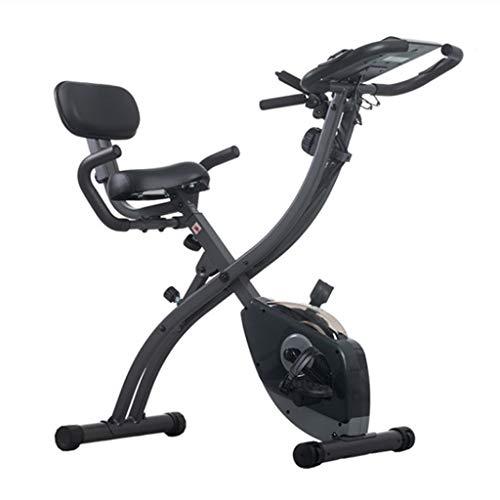 Bicicletas Estática Reclinada con Grandes Respaldo del Hogar Silencioso Controlado Magnéticamente Plegables De Gran Alcance De La Quema De Grasas Artefacto (Color : Black)