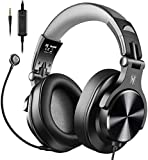 Casque Audio Micro, OneOdio Casque Gaming PS4, Casque Micro PC, Casque Gamer Xbox One Compatible PC Tablette Smartphone (Gris)