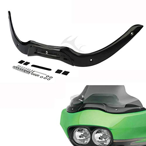 XFMT Windshield Windscreen Trim Kit For Harley Touring Road Glide FLTR 2004-2013 (Black)