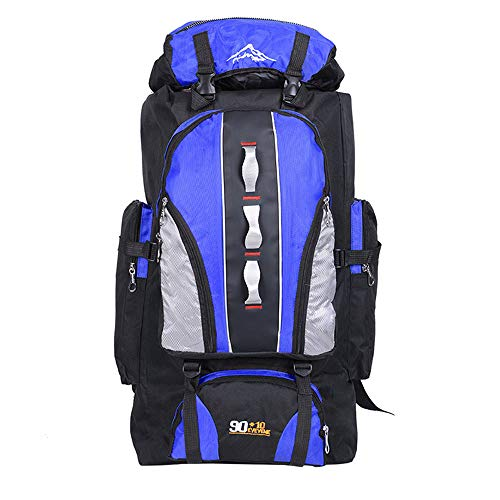 100L Leichte Packable Reiserucksack Wanderrucksack, Multifunktionale Tagesrucksack, Morbuy Faltbare Camping Trekking Rucksäcke, Utra Leicht Outdoor Sport Rucksäcke Tasche (100L,Blau)