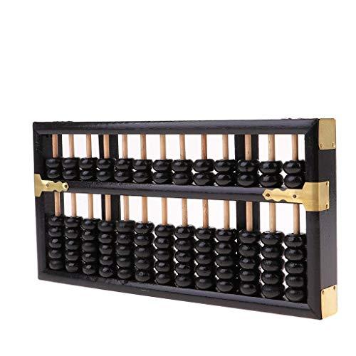 Chinese Abacus wiskundige berekening gereedschap oude calculator hout 13 rijen Abaci tellen voor basisscholen kinderen Zwart