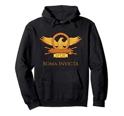 Ancient Rome SPQR History Roman Eagle Legion Roma Invicta Pullover Hoodie