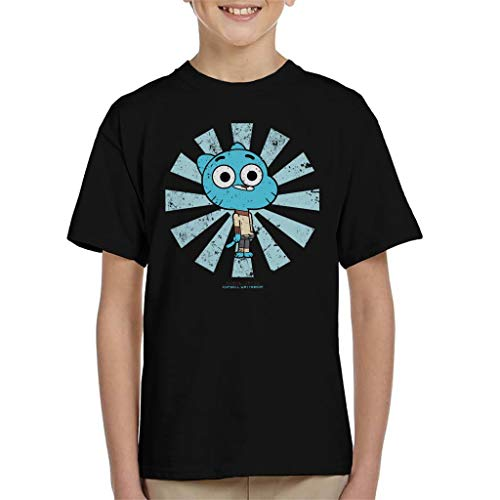 Cloud City 7 Gumball Watterson Retro Japanese The Amazing World of Gumball Kid's T-Shirt