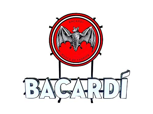 Mixcompany.de Bar & Glas Bacardi Leuchtreklame/Leuchtschild/Werbeschild/Werbetafel LED Beleuchtet mit Netzteil