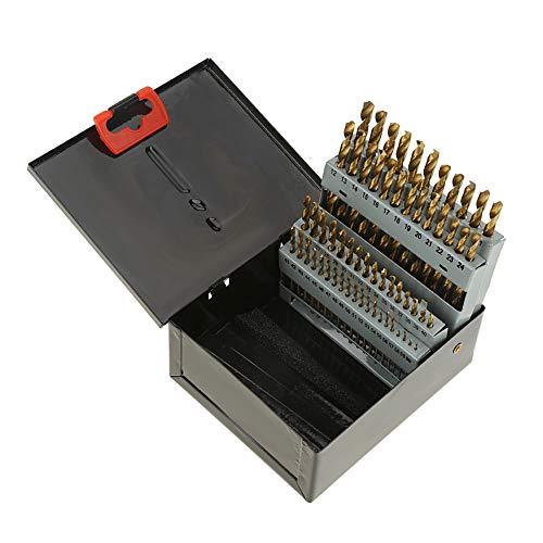 Drill Bit Set, Drill Bits Metal Steel 60 Pieces 1-5,79 mm, Drill Bits Helical Grinded Metal Drill Bits Tools for Plastic Wood Aluminum