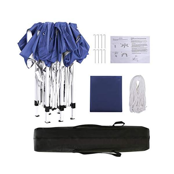 YUEBO 3x3m Gazebo, Heavy Duty Gazebo Waterproof Marquee Tent Gazebo with Sides and Carry Bag for Garden/Beach