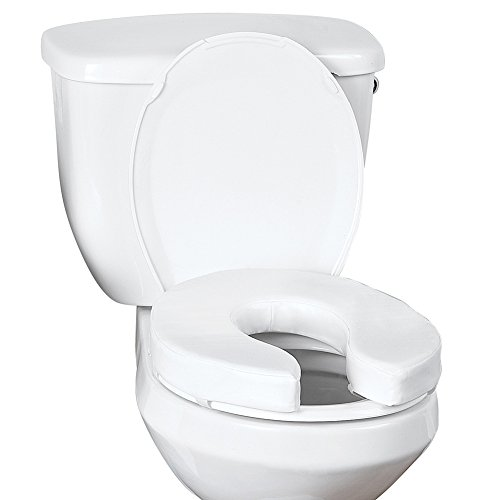 moen raised toilet seats Collections 6652012461900EA - Vinyl Cushion Toilet Seat Riser 2, White
