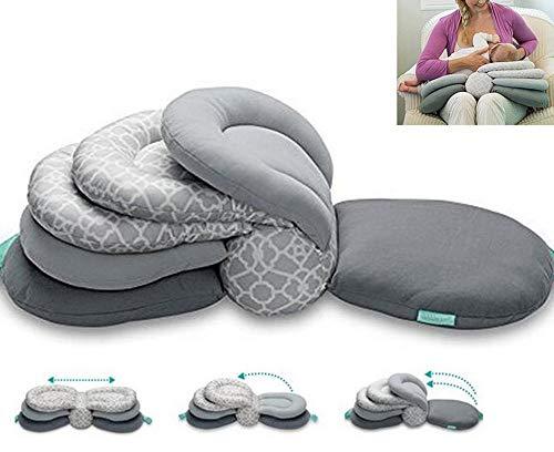 Yangyang Multi-Function Breastfeeding Pillow Maternity Nursing Pillow,Best for Mom,Adjustable Height(Gray)
