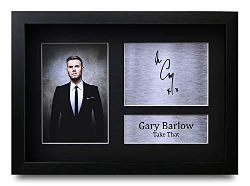 HWC Trading Gary Barlow A4 Gerahmte Signiert Gedruckt Autogramme Bild Druck-Fotoanzeige Geschenk Für Take That Musik-Fans