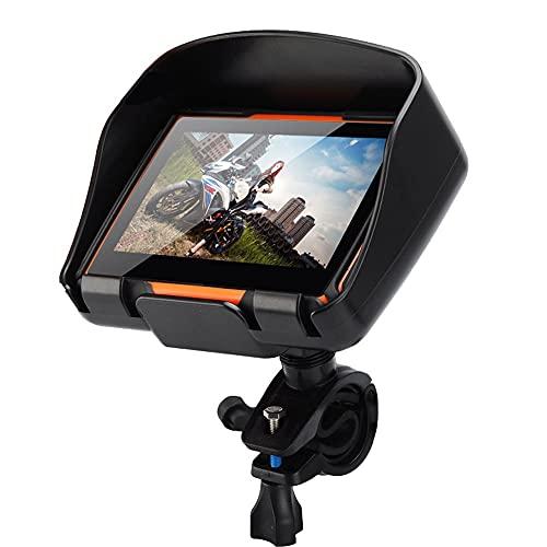 MWEIMA La Navegación GPS De La Motocicleta con Tráfico Y Mapas De por Vida, Pantalla Táctil LCD TFT De 4.3 Pulgadas, Diseño Robusto para El Tiempo Duro, Soporte De Sistema Multilingüe