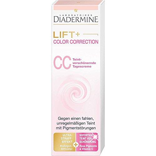 Diadermine Tagespflege Lift+ Color Correction CC Teintverschönernde Tagescreme, 50 ml