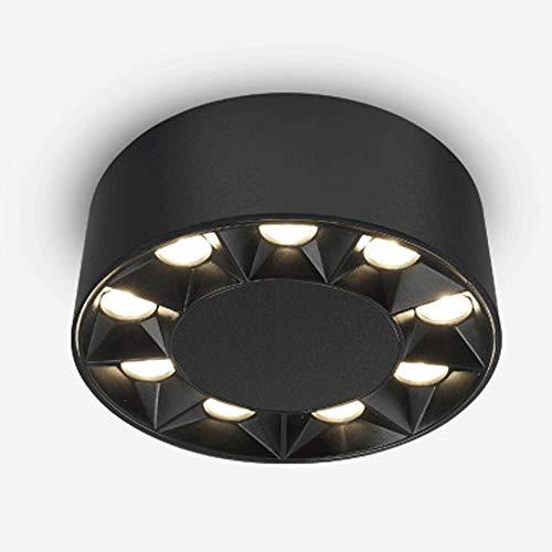9 LED LED LED Panel Redondo Integrado Spotlight Moderno Inicio Indoor Anti-Glamare Techo Downlight Manchas de COB Ajustable Ángulo Comercial Galería Supermercado Accesorio de iluminación de techo