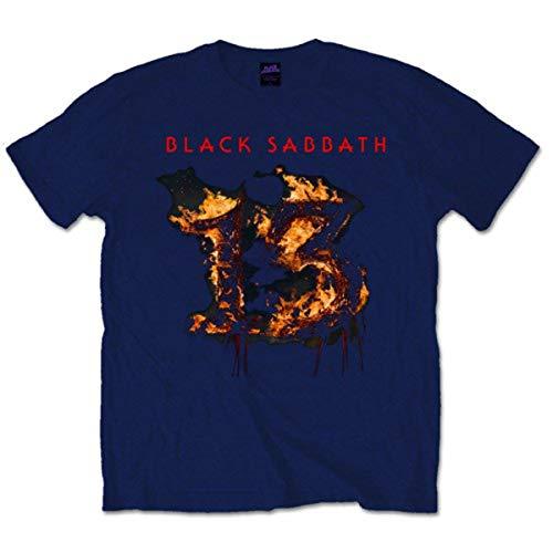 Rockoff Trade Black Sabbath 13 T-Shirt, Bleu Marine, S Homme