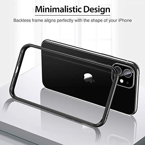 ESRiPhone11/iPhoneXRケースバンパー6.1インチ[アルミ+シリコン二重構造]衝撃吸収薄型軽量ストラップホール付き電波に影響無し耐衝撃iPhone11/iPhoneXR專用スマホケースバンパーケース(ダックグレー)