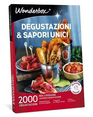 Wonderbox Cofanetto Regalo - DEGUSTAZIONI & SAPORI Unici - 2000 DEGUSTAZIONI per 2 Persone