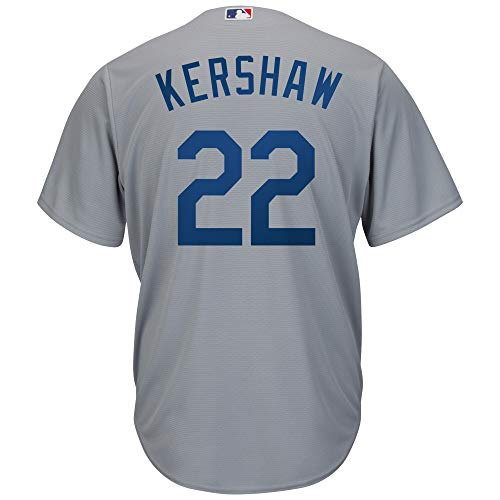 Clayton Kershaw Los Angeles Dodgers Gray Youth Cool Base Road Replica Jersey (Large 14/16)