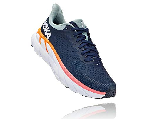 HOKA ONE ONE Women's Clifton 7 Running Shoe (Black Iris/Blue Haze