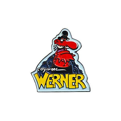 TE-Trend Werner Brösel Achterbahn Präsi Pin Anstecker Kult Zeichentrick Anime Merchandise Fanartikel Metall Mehrfarbig