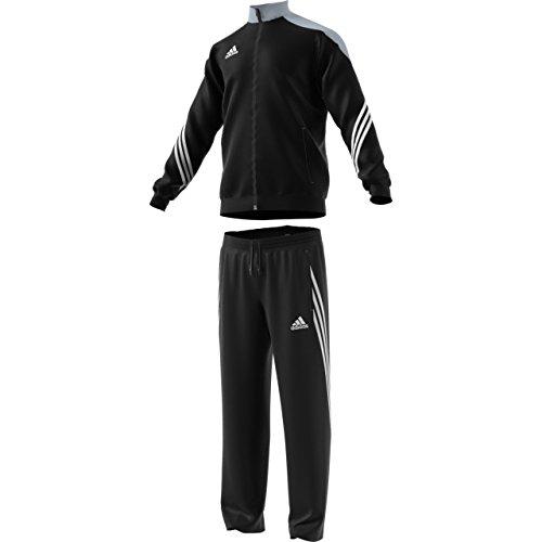 Adidas Sere14 Pes Suit Tuta Da Ginnastica Uomo, Nero / Argento / Bianco, S