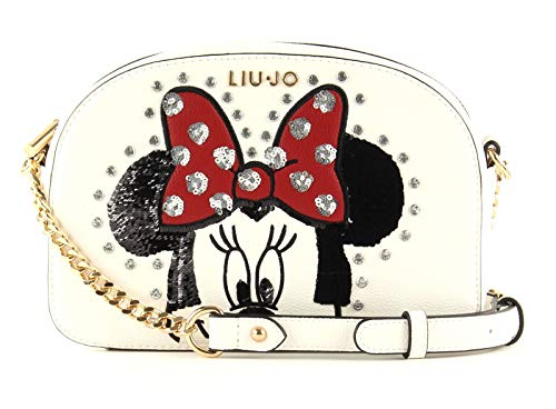 Liu Jo Mouse Feliz Año Nuevo Crossbody Bianco Lana