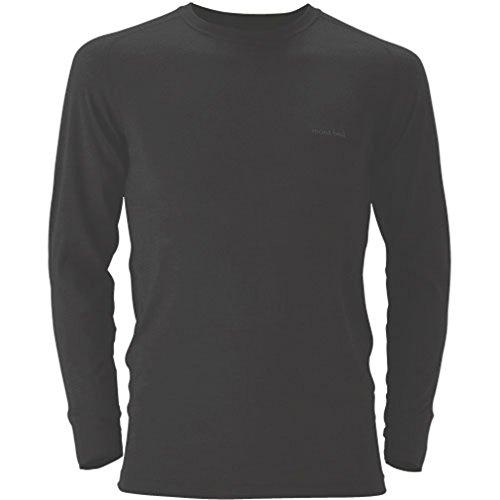 (モンベル)mont-bell スーパーメリノウール L.W.ラウンドネックシャツ Men's 1107263 BK ブラック M