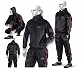 RAD Sauna Suit Men, Women Weight Loss Jacket Pant Gym Workout Sweat Suits with Hood (Red, 6XL)